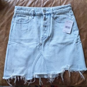 Free People Tidal Wave Jean Skirt, Sz 26, NWT